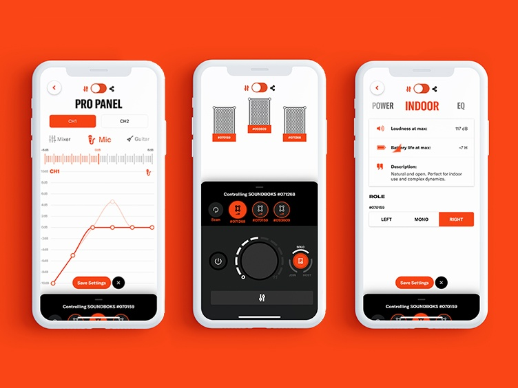 Beta test imaging of SOUNDBOKS App