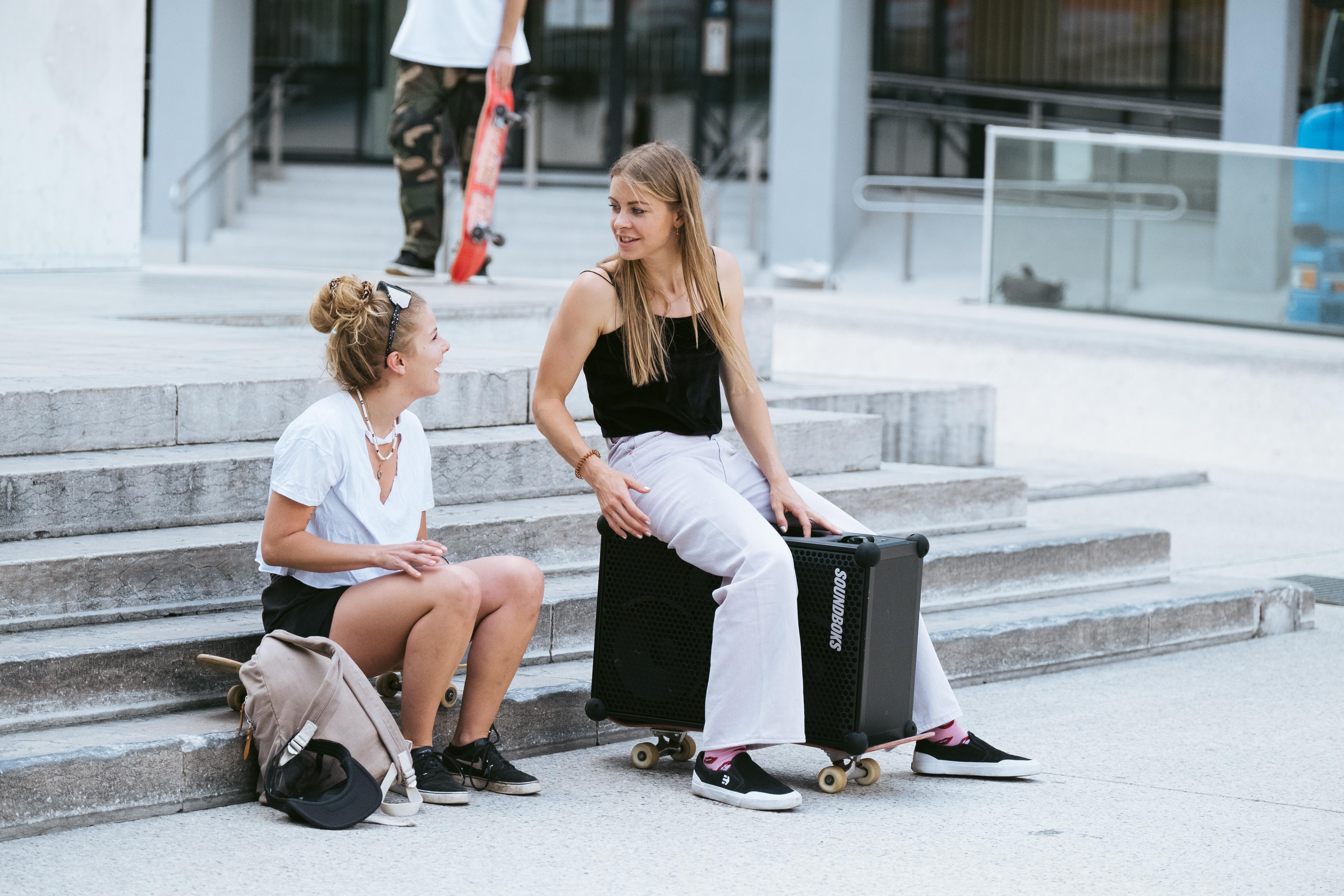 Stefanie Hofer sitting on SOUNDBOKS