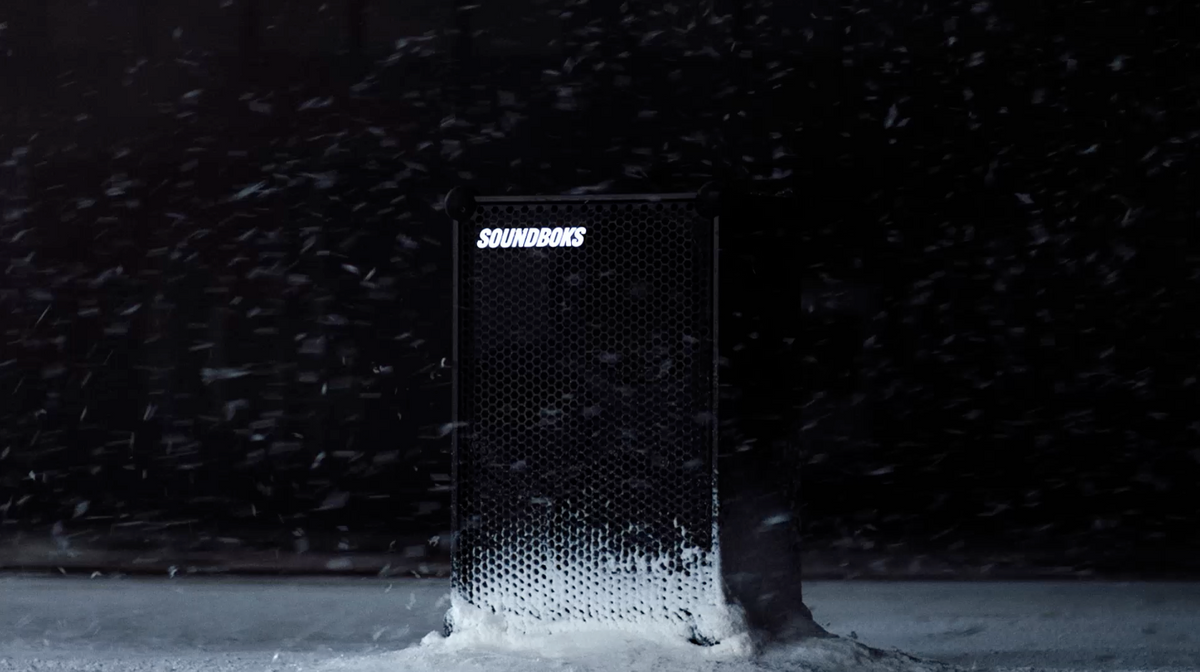 soundboks in the snow