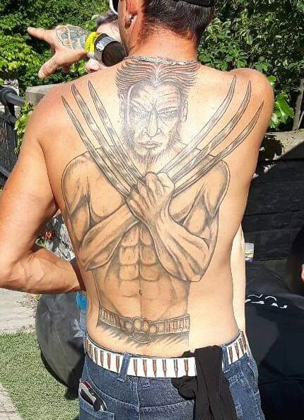 Wolverine tattoo fail