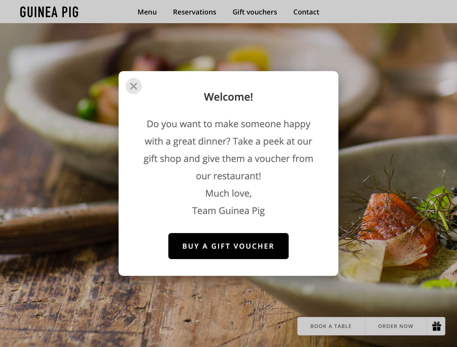 Show a pop-up on your website