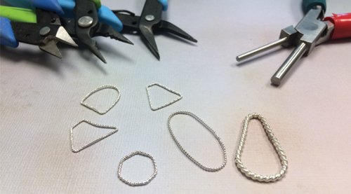 Shaping pattern wire