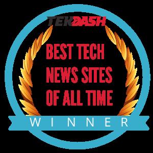 TekDash Best Tech News Sites of All Time Winner emblem