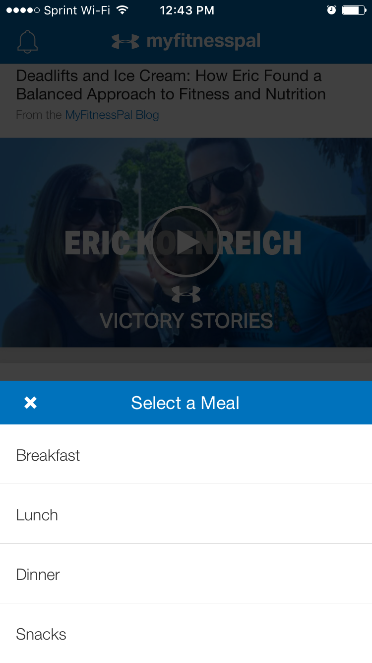 myfitnesspal app food logging