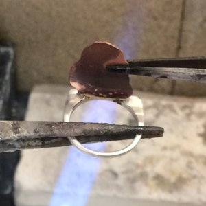 Soldering a ring band