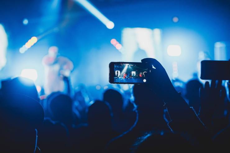 Instagram live concert video