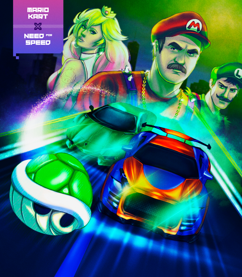 Nearly 1,000 gamers would play a Mario Kart and Need for Speed crossover game
