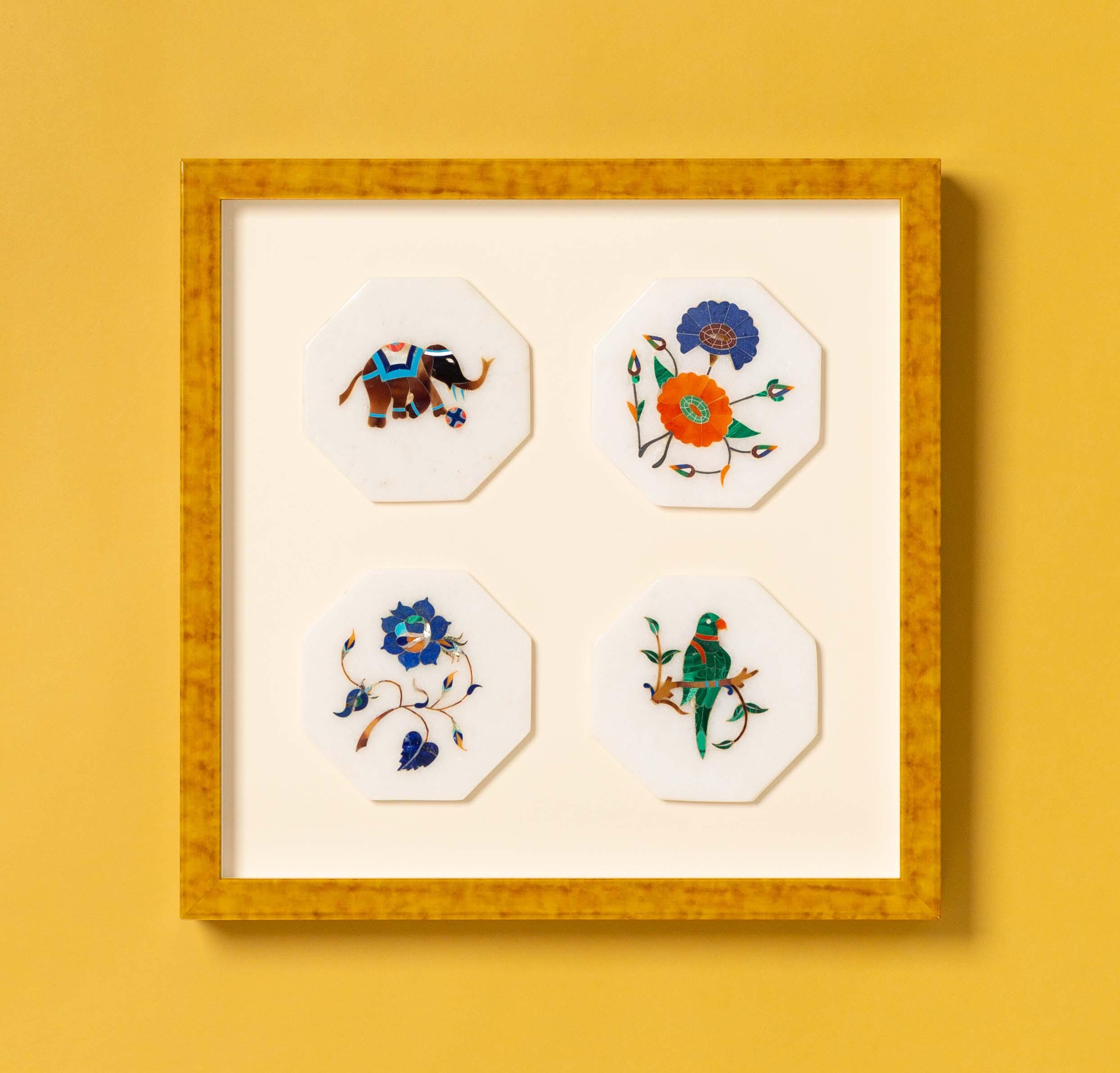 framed Indian art