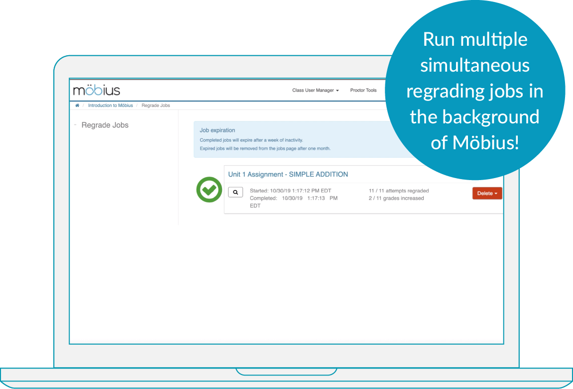 Mobius Regrade Jobs Page