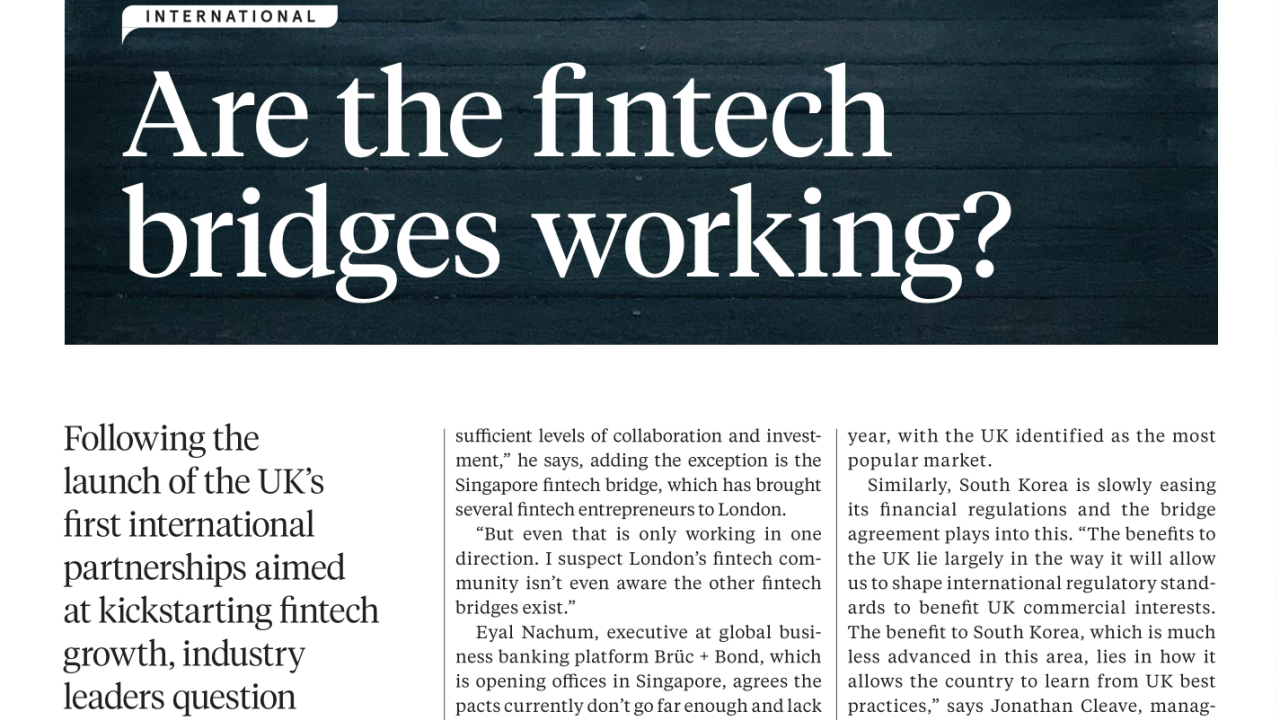 Are Britain's Fintech Bridges Any Good? Our Answer in the Sunday Times
