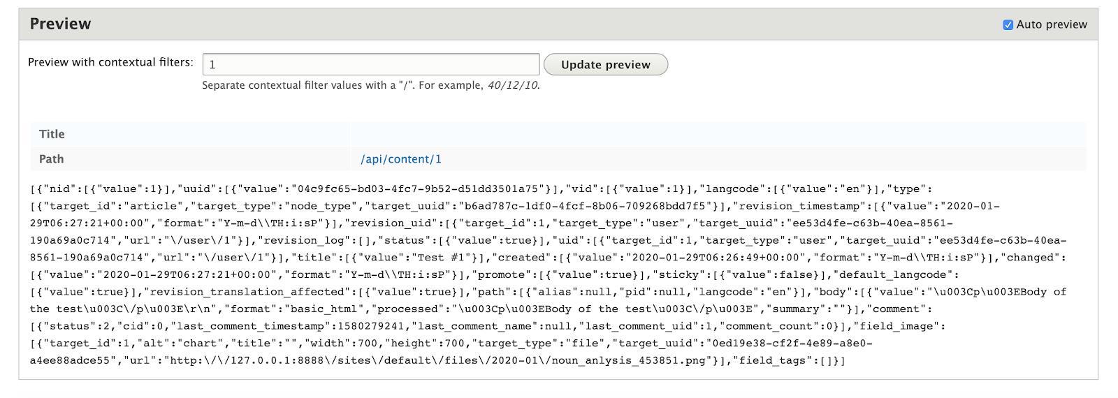 Drupal REST API JSON response