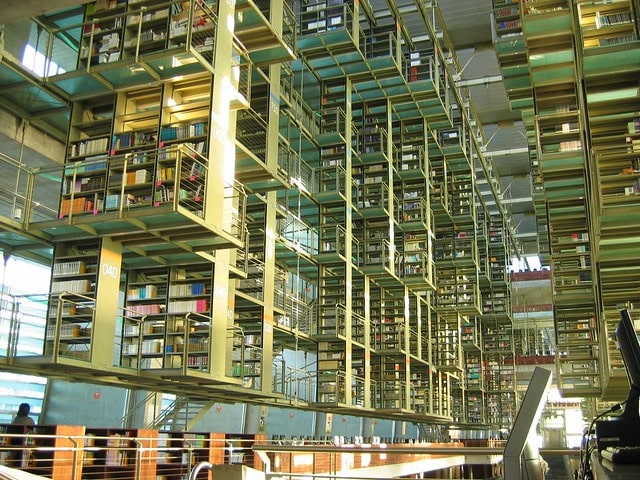 One of the coolest things to do in Mexico City is the Biblioteca Vasconcelos