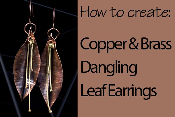 Use metalsmithing stakes in your jewelry making for fold forming techniques. This tutorial shows how to make leaf earrings using these tools and skills.