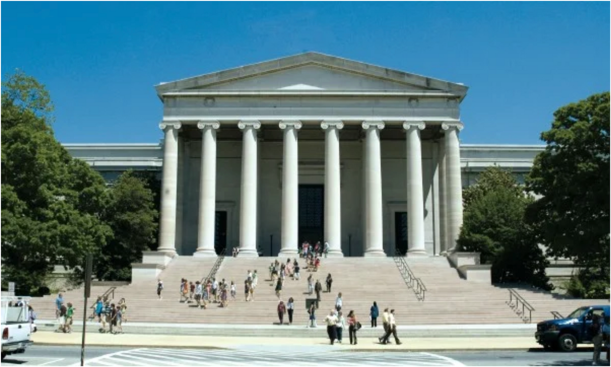 national gallery of art entrance historic building with columns