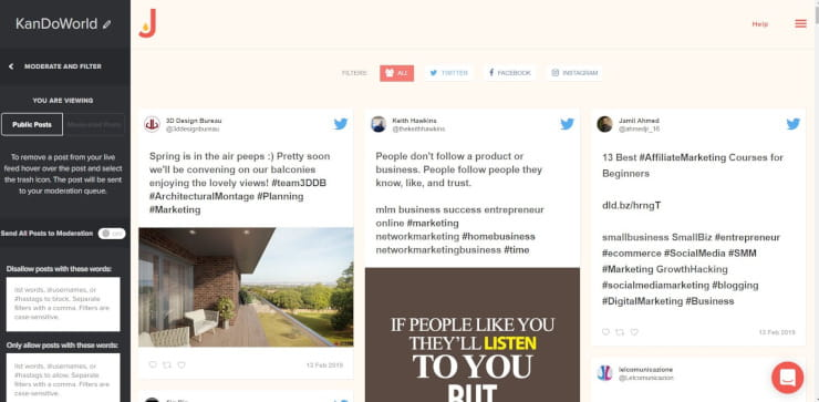 embed social feed with Juicer