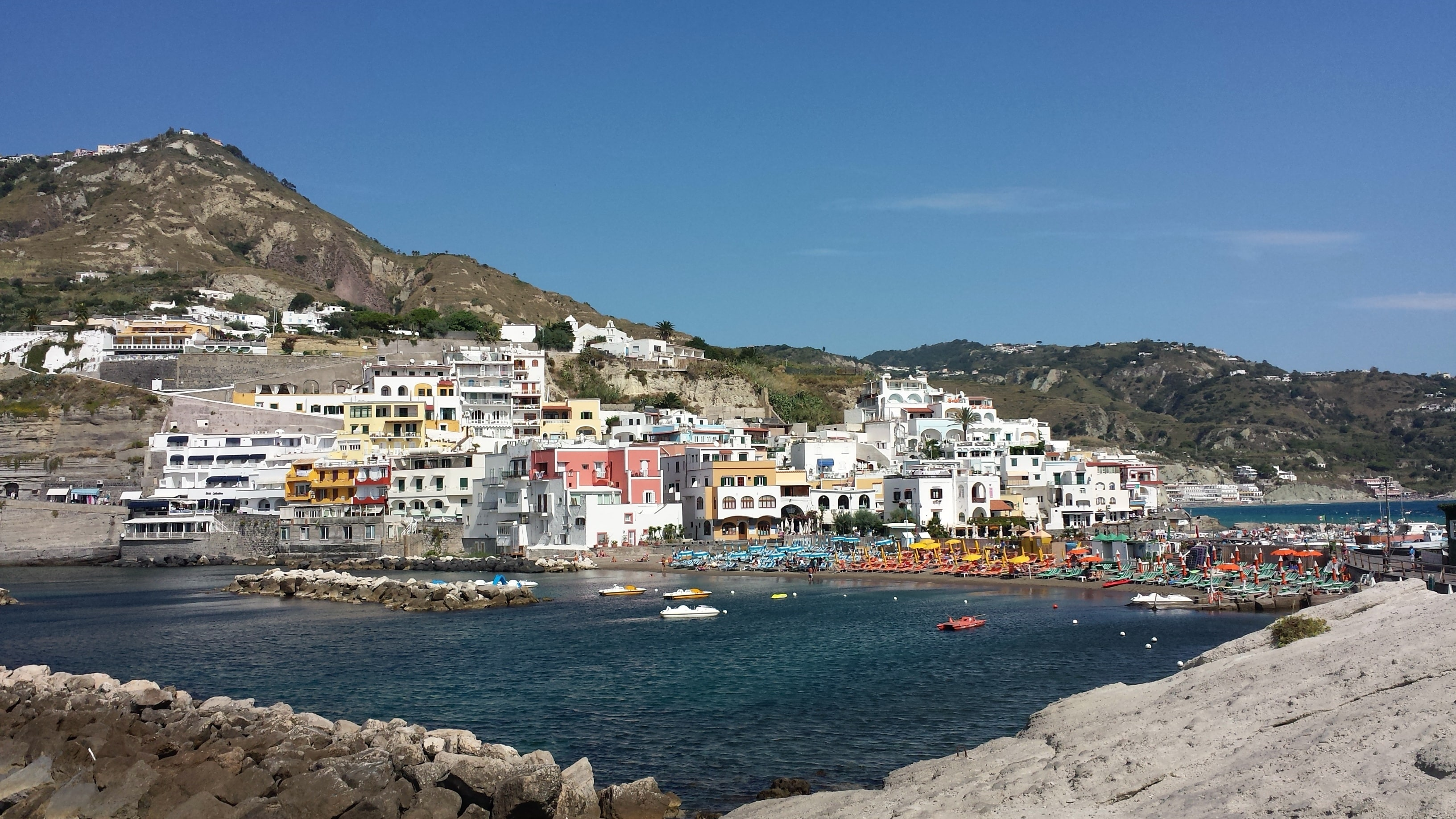 Taking the ferry to Ischia is a unique thing to do in Italy