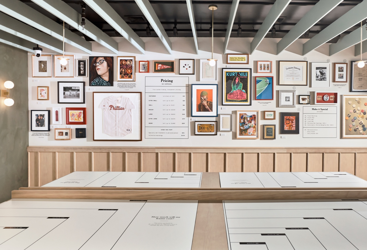 large retail gallery wall