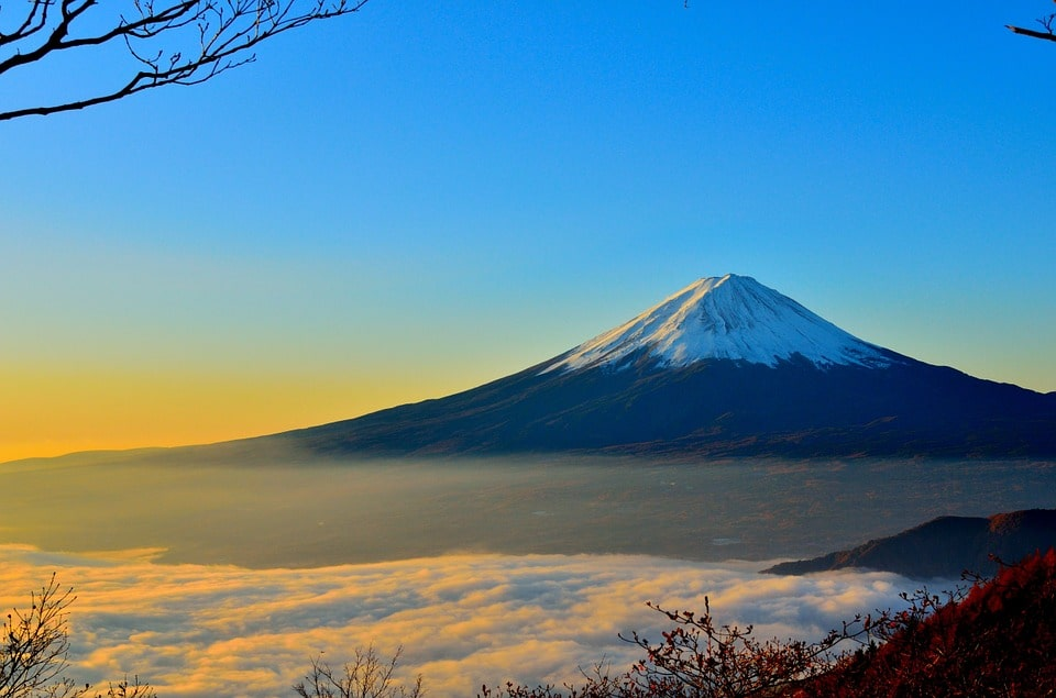 Mount Fuji is visible from Shizuoka, one of the best places to stay in Japan