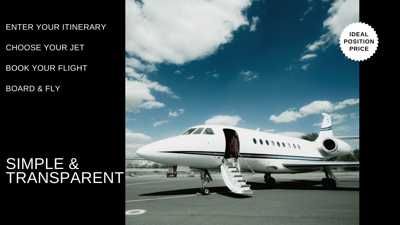 How do we make it simple to book a private jet?