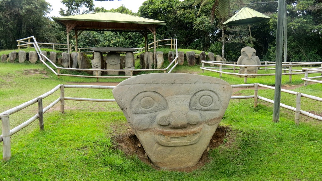 megalith sculpture in san agustin park things to do in Colombia