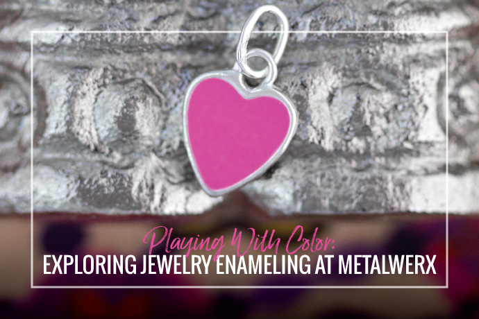 Ellen Carno explores jewelry enameling on three dimensional froms through Metalwerx instructional workshops.