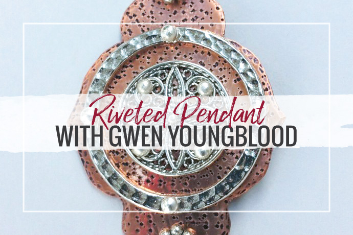 Make a riveted pendant with jewelry educator Gwen Youngblood. Explore this fun jewelry making technique with a fun and easy project.