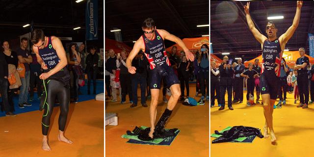 Professional triathlete Mark Buckinghame taking the Yonda / Endless Pools Challenge