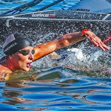 open water swimmer Ashley Twichell at the 2018 Open Water Nationals