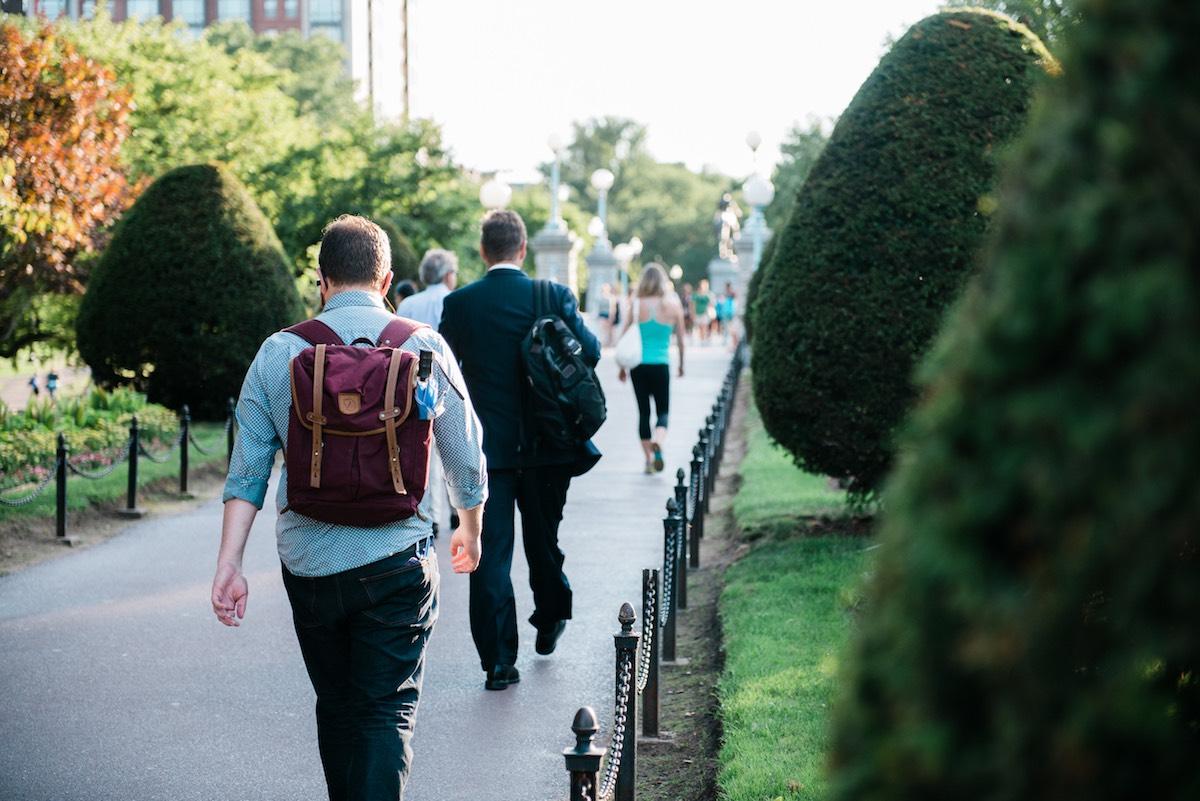 people walking in Beacon Hill Boston