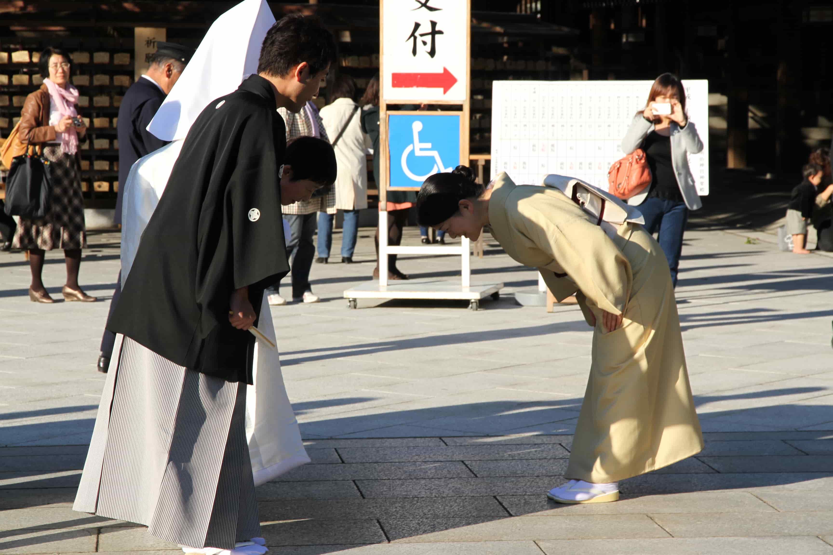 locals walking in Japan