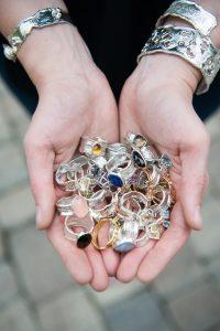 A handful of rings by Kristen Baird