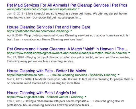 Search results for specialized cleaning services