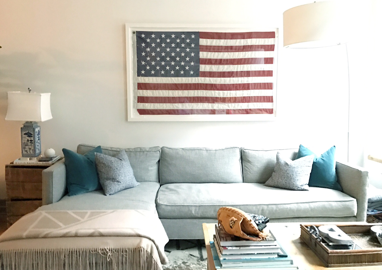 Large Framed American Flag | Zef Jam