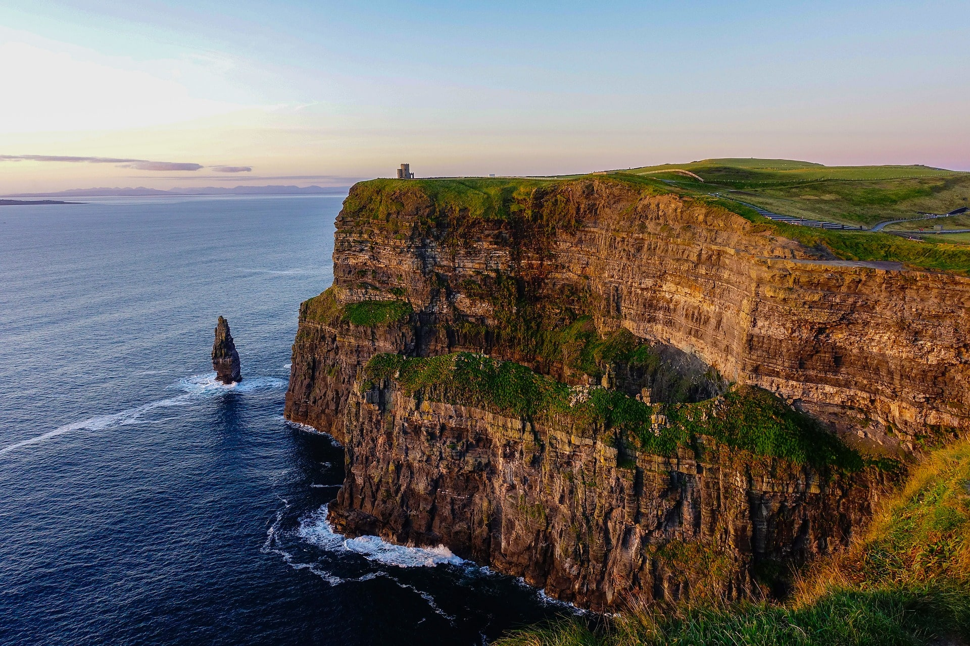 The majestic Cliffs of Moher are an awesome place to visit in ireland