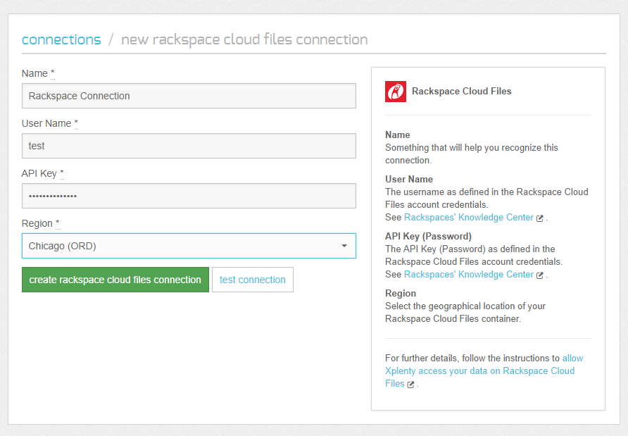 Processing Data from Rackspace Cloud Files