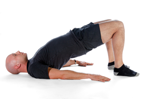 glute bridge hip flexor stretch