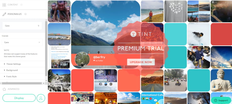 tintup social wall
