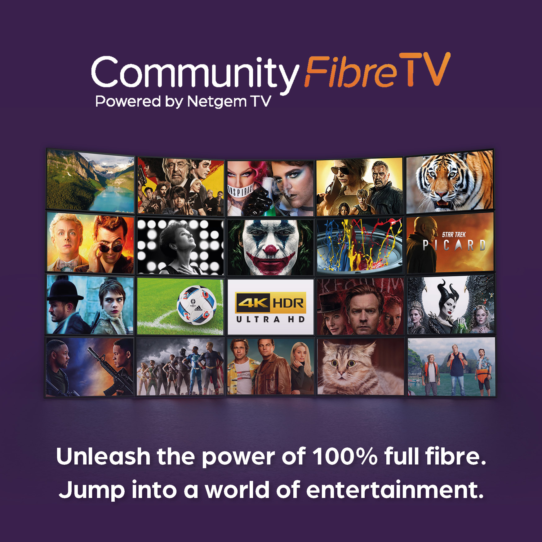Community Fibre unleashes the power of full-fibre broadband to deliver a new world of entertainment