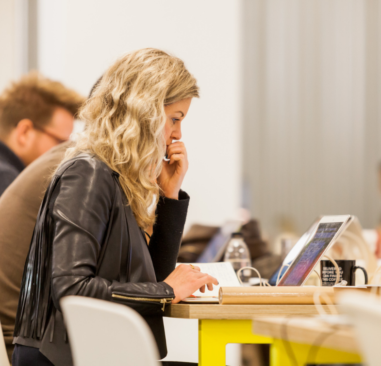 woman-working-breakout-space-huckletree-shoreditch
