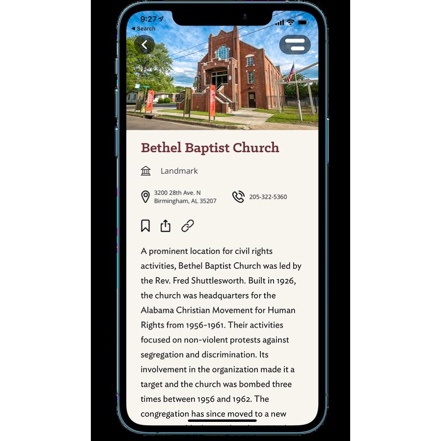 Alabama Tourism Department - Civil Rights Trail App