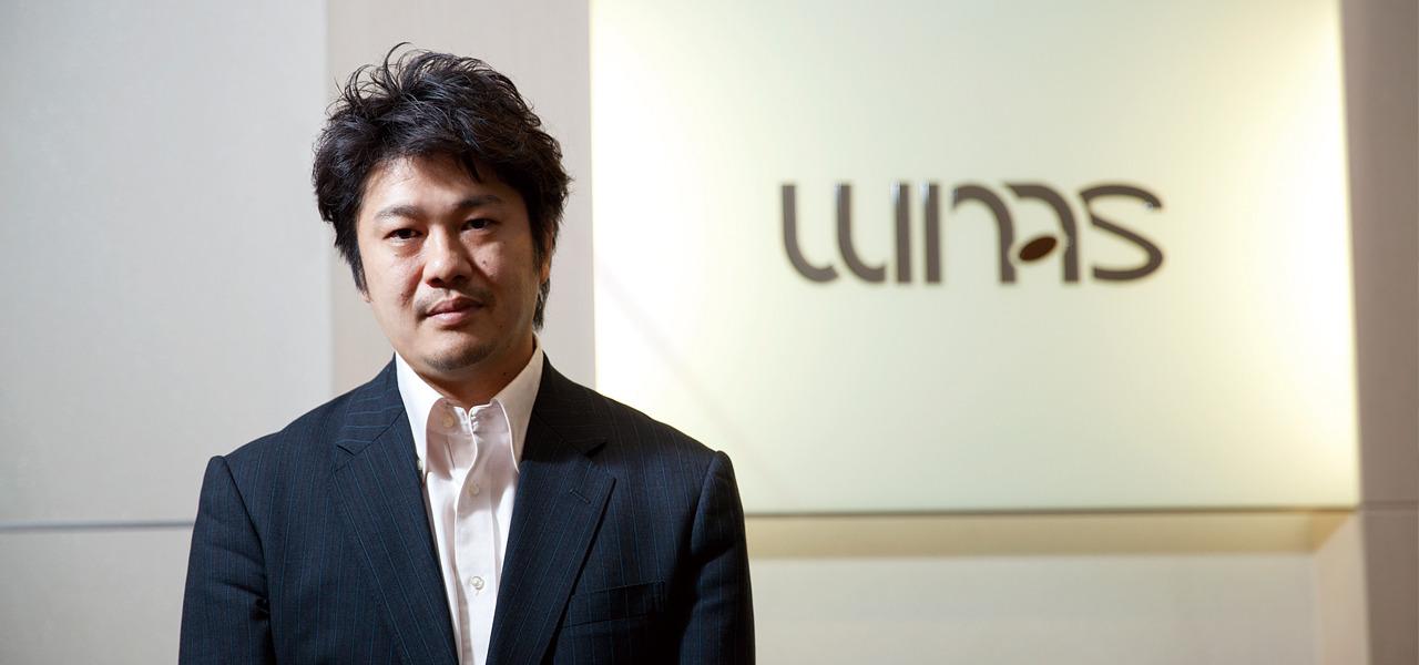 株式会社ウィナスの代表と企業ロゴ