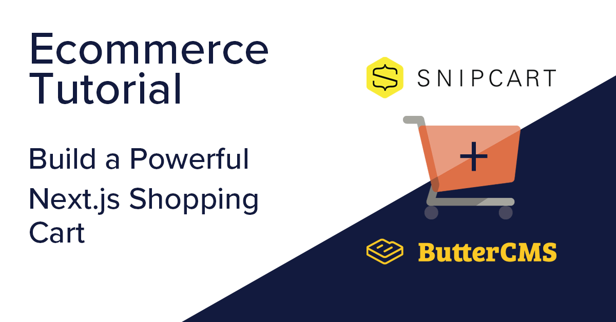 Ecommerce tutorial with Next.js and Snipcart: Cover Image