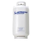 Cilindro de gás de 125 quilos para pequeno consumidor da Ultragaz na cor branca