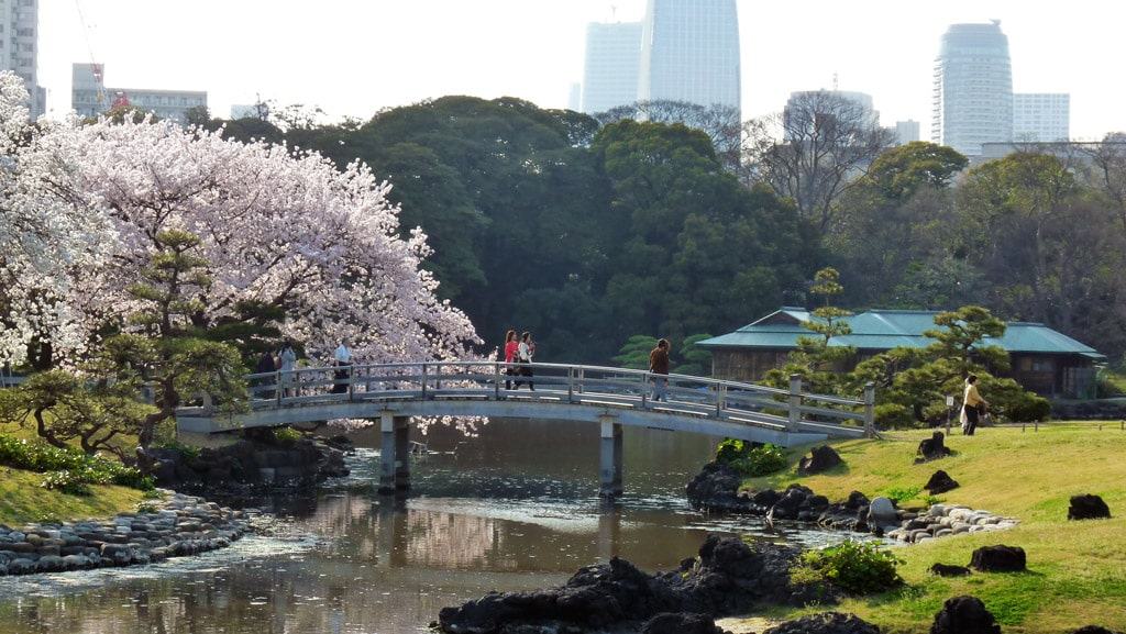 The gorgeous Hama Rikyu Gardens are well-loved by reviewers on TripAdvisor Japan