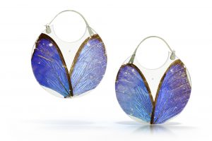 Morpho Encasement Earrings by Luana Coonen