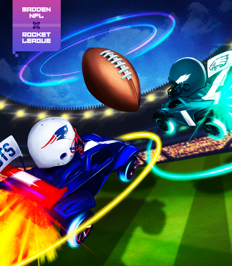 Nearly 1,000 gamers would play a Madden NFL and Rocket League crossover game