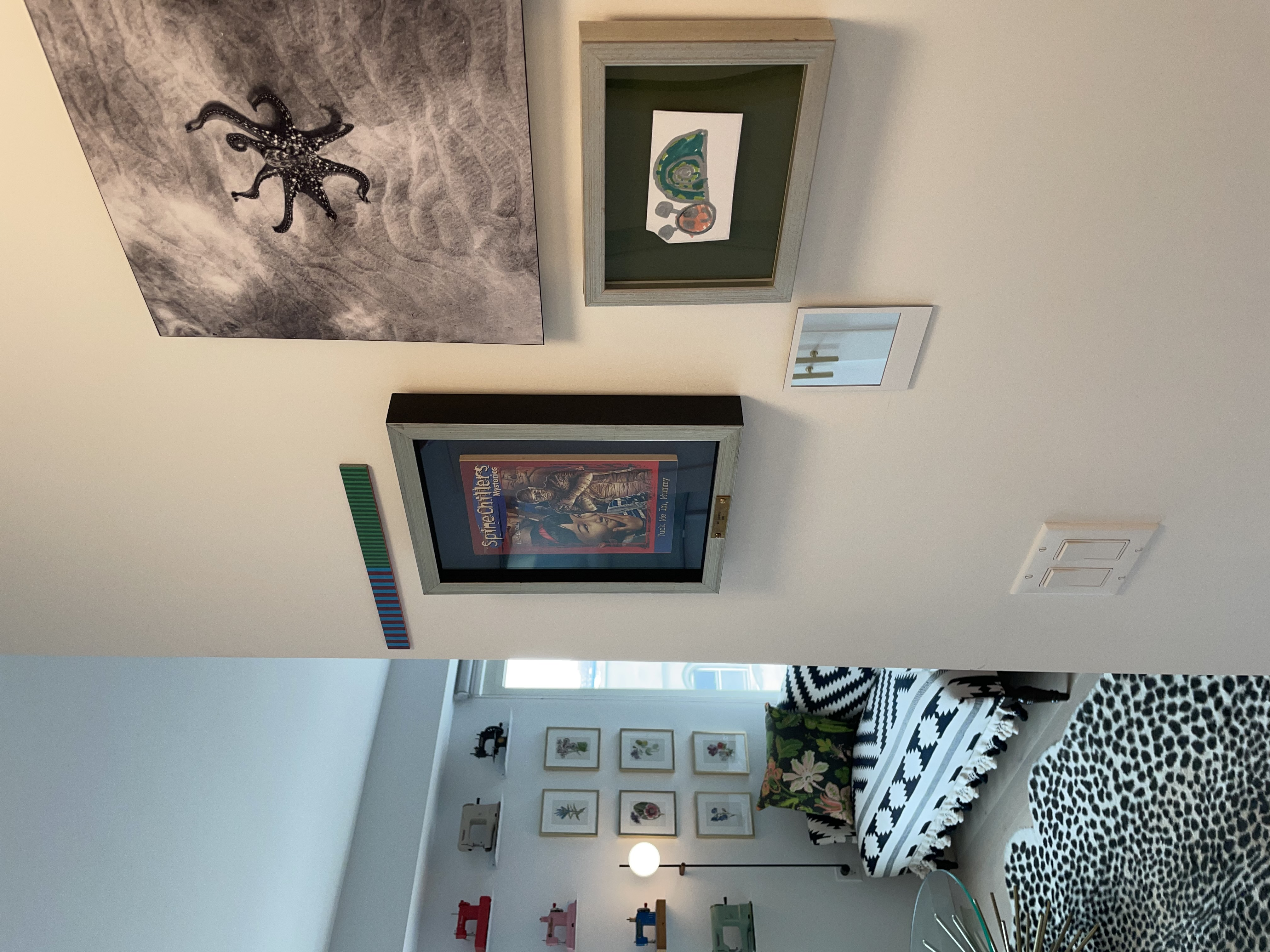 small gallery wall in stylish apartment
