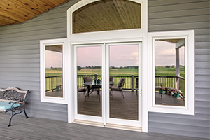 Exterior white Inswing French Door