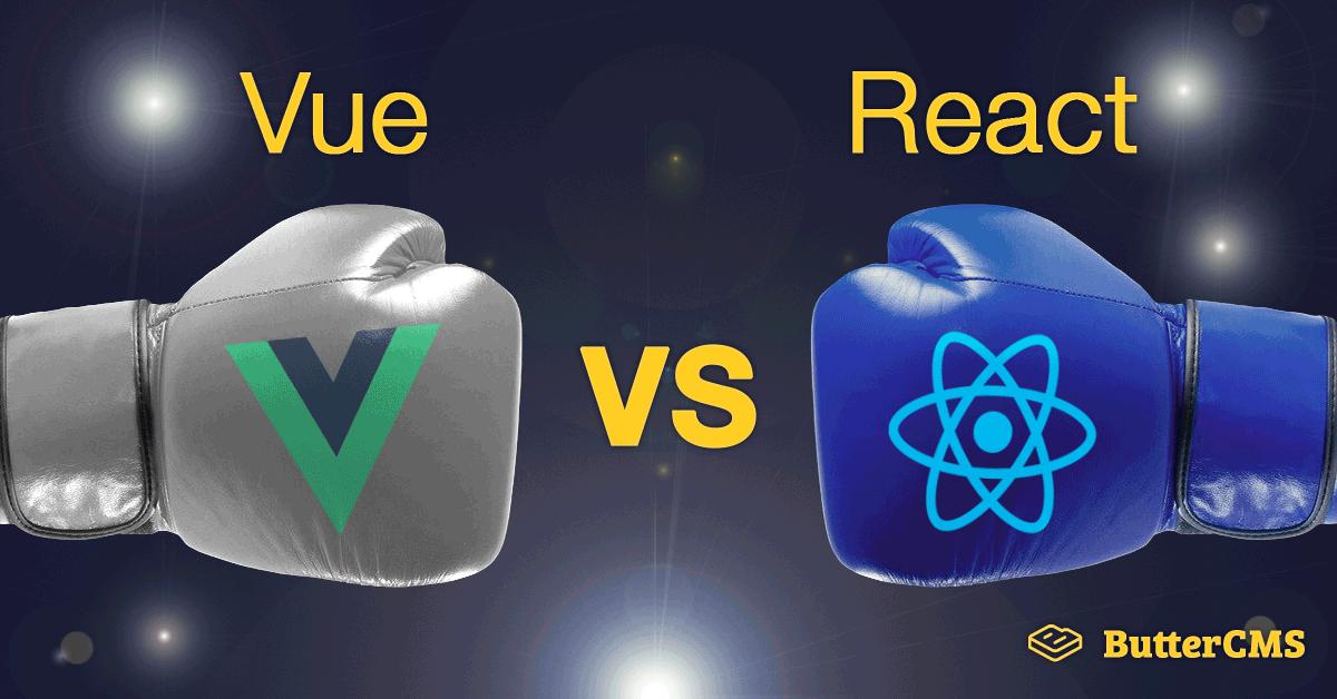 Cover Image: Vue vs React