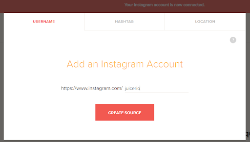 Add Instagram source